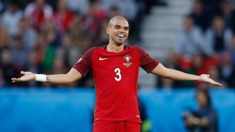 Football Soccer - Portugal v Austria - EURO 2016 - Group F - Parc des Princes, Paris, France - 18/6/16 Portugal's Pepe reacts REUTERS/John Sibley Livepic - RTX2GYEU
